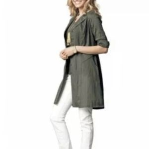 CAbi #341 Got You Covered Jacket Moss Green Tunic